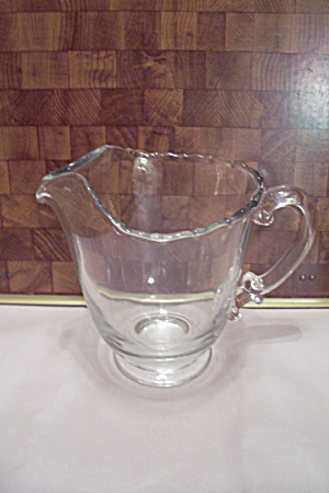 Fostoria Contour Pattern Crystalo Glass Footed Pitcher (Image1)