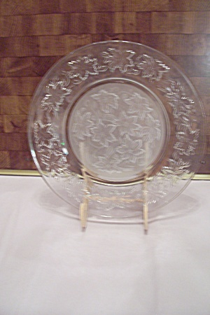 Crystal & Satin Glass Holly Pattern Dinner Plate (Image1)