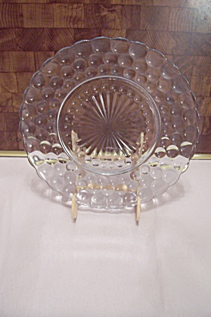 Anchor Hocking Bubble Pattern Crystal Dinner Plate