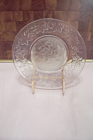 Crystal & Satin Glass Holly Pattern Salad Plate (Image1)