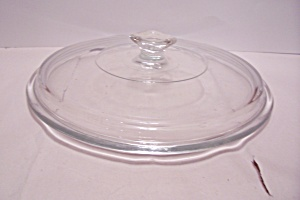 "Crystal Glass 8"" Casserole Lid (Image1)"