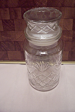 Crystal Glass Planter's Peanuts Seal Tight Jar
