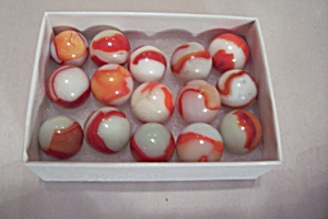 Lot Of 15 Vintage Glass Marbles