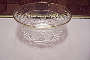 Crystal Pattern Glass Candy Dish