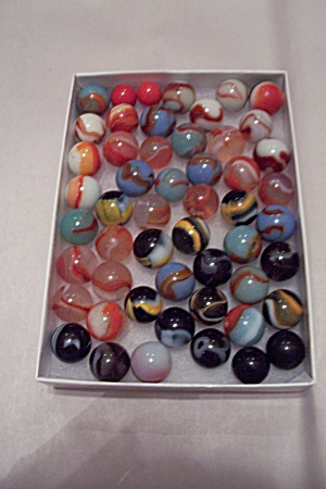 Lot Of 52 Assorted Glass Marbles
