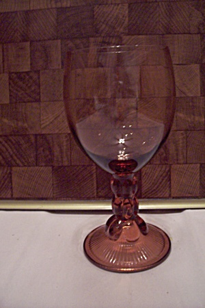 Amber Glass Goblet