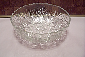 Crystal Pattern Glass Salad Bowl