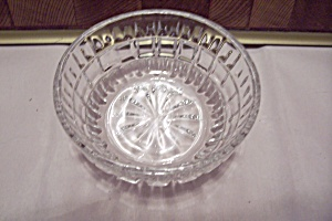 Cut Crystal Glass Block Pattern Dessert/berry Bowl