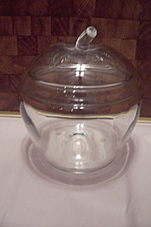 Fruit Shaped Crystal Glass Storage Jar With Lid