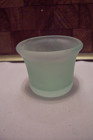 Greenish-Blue Satin Glass Toothpick Holder (Image1)