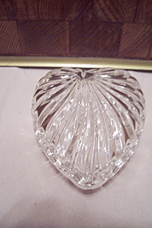Crystal Glass Heart Shaped Trinket Storage Box