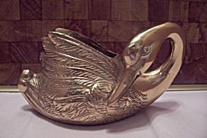 Brass Swan Cache Pot (Image1)