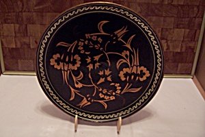 Copper & Black Enamel Decorative Wall Plaque (Image1)