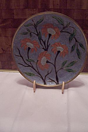 Brass & Cloisonne Decorative Wall Plaque (Image1)