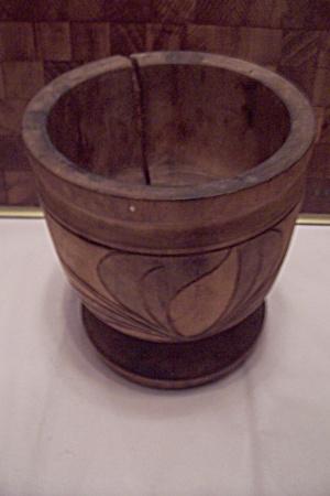 Japanese Hokkaido Ainu Wood Carving Pestle & Mortar (Image1)