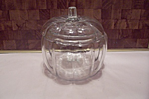 Crystal Glass Pumpkin-shaped Biscuit Jar