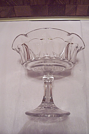 Crystal Glass 6-sided Compote