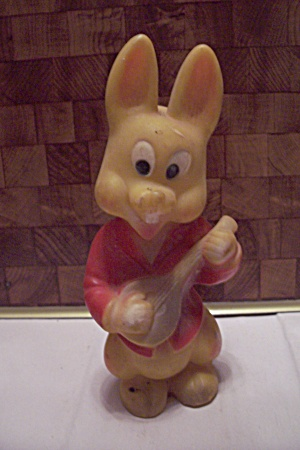 Rubber Rabbit Squeeze Squeaker Toy