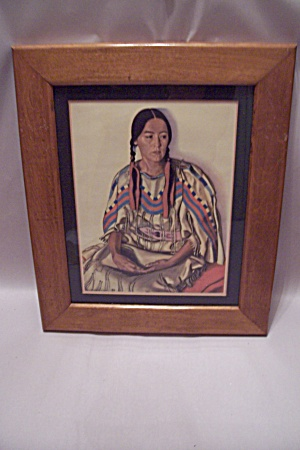 Art Print Of Native American Woman