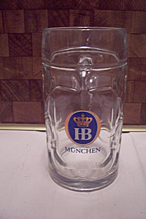 Hb Munchen Crystal Glass Beer Mug