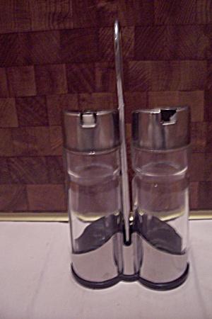 Glass & Chrome Vinegar & Oil Serving Set (Image1)