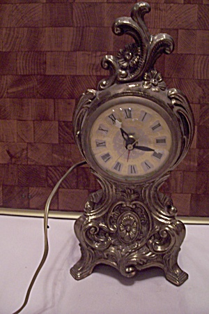 United Model 782 Brass Metal Mantel Electric Clock