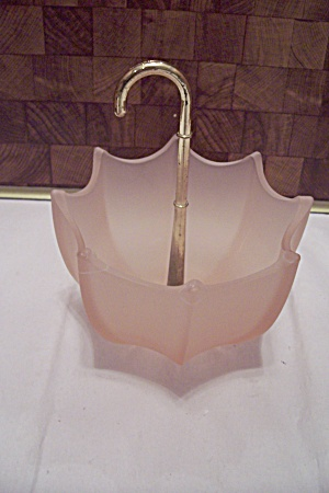 Pink Glass Umbrella Dish (Image1)