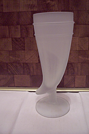 Satin Glass Horn Of Plenty Vase