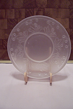 Satin Pattern Glass Saucer