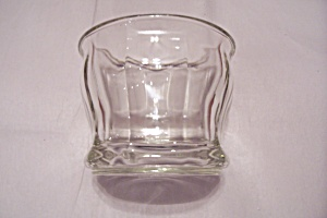 Crystal Glass 10-sided Large Footed Bowl