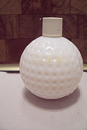 Avon White Glass Golf Ball Bottle (Image1)