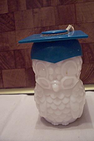 Avon White Glass Owl Graduate Bottle (Image1)