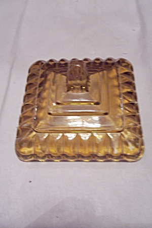 Amber Glass Bride's Dish Lid (Image1)
