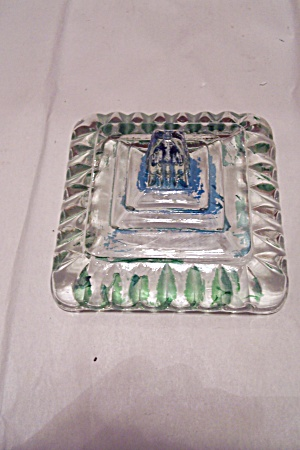 Replacement Blue-Green Glass Bride's Dish Lid (Image1)