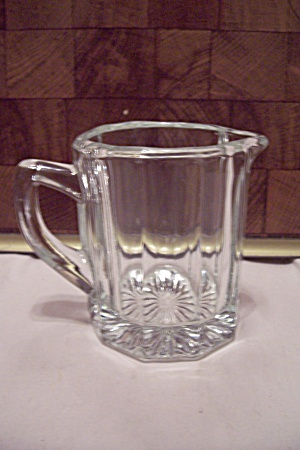 Crystal Glass 10-Sided Small Pitcher (Image1)