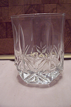 Crystal Pattern Glass 12-sided Water Glass