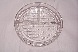 Crystal Pattern Glass Divided Dish