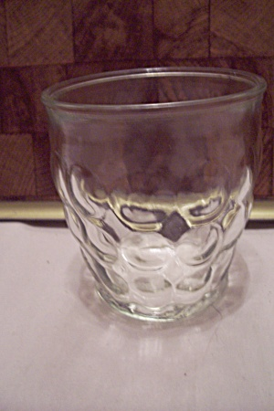 Anchor Hocking Thumbprint Pattern Juice Glass