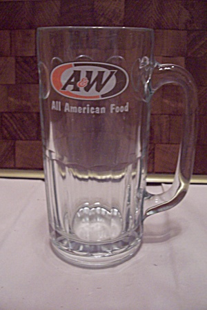 Large Crystal Glass A&w Root Beer Mug