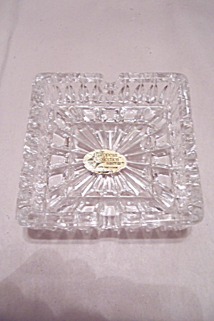 The European Collection Lead Crystal Glass Ash Tray