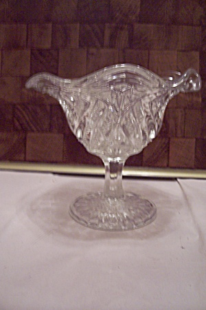 Crystal Pattern Glass Comport