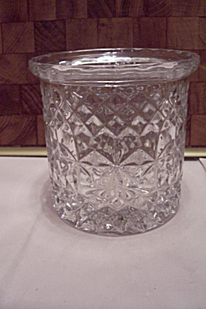 Crystal Pattern Glass Cache Pot/vase