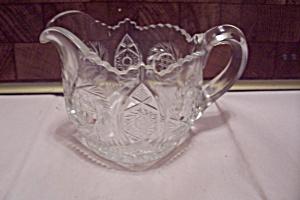 Crystal Pattern Glass Creamer (Image1)