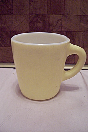 Hocking Light Yellow Glass Mug
