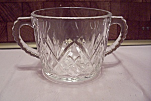 Fire King/anchor Hocking Pineapple Pattern Glass Sugar