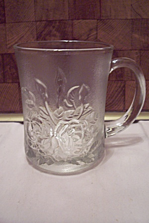 Crystal Glass Rose Decorated Mug