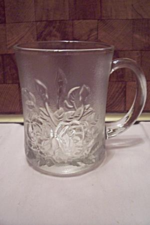 Crystal Glass Rose Decorated Mug (Image1)
