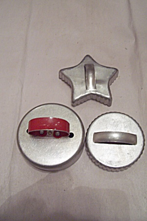 Set Of Three Aluminum Cookie Cutters
