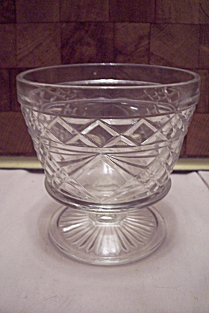 Fire King/anchor Hocking Oatmeal Crystal Glass Sherbet
