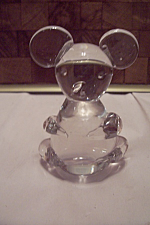 Fenton Crystal Hand Blown Art Glass Bear Paperweight